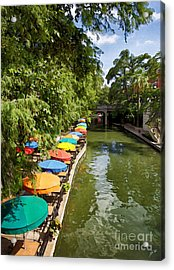 The River Walk Acrylic Print by Erika Weber