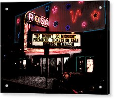 The Rosa Acrylic Print by David Blank