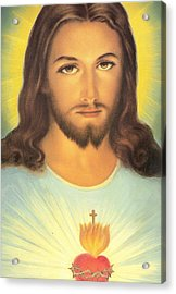 The Sacred Heart Of Jesus Acrylic Print