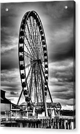 The Seattle Great Wheel Acrylic Print by David Patterson