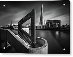 The Shard In Geometry Acrylic Print by Nader El Assy