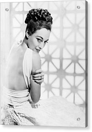 The Shining Hour, Joan Crawford Acrylic Print by Everett