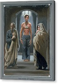 1. The Son Of Man With Job And Isaiah / From The Passion Of Christ - A Gay Vision Acrylic Print by Douglas Blanchard