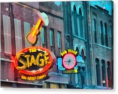 The Stage On Broadway Acrylic Print by Dan Sproul