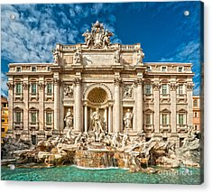 The Trevi Fountain - Rome Acrylic Print by Luciano Mortula