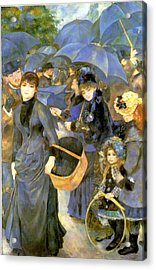 The Umbrellas Acrylic Print by Pierre Auguste Renoir