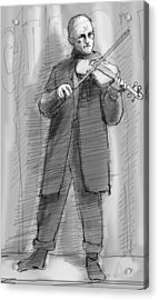 The Violinist Acrylic Print by H James Hoff