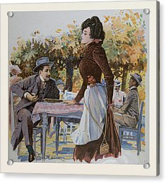 The Waitress. Food And Drink, Liszt Gourmet Archive Acrylic Print by German School