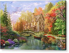 The Water Lake Cottage Acrylic Print