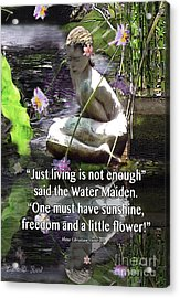 The Water Maiden Acrylic Print