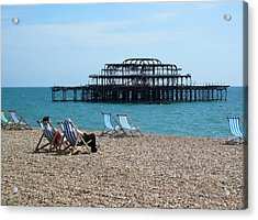 The West Pier Brighton Acrylic Print by Mike Lester