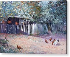 The White Picket Fence Acrylic Print by Jan Matson