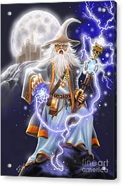 The Wizard Acrylic Print by Rick Mittelstedt