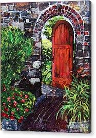 The Wooden Door Acrylic Print