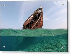 The Wreck Of Skipjack II In The Maldives Acrylic Print