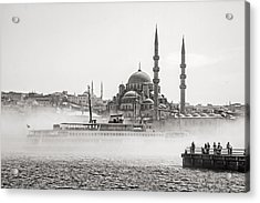 The Yeni Mosque In Fog Acrylic Print