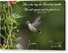 This Is The Day Acrylic Print by Cris Hayes
