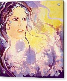 Thistledown Acrylic Print by Patricia Howitt