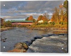 Thompson Covered Bridge 2 Acrylic Print by Joann Vitali