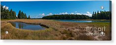 Thompson Island In Maine Panorama Acrylic Print