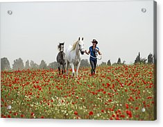 Three At The Poppies' Field... 3 Acrylic Print