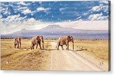 Three Giants Acrylic Print by James Forsyth