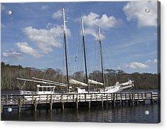 Three Mast Sailboat Acrylic Print