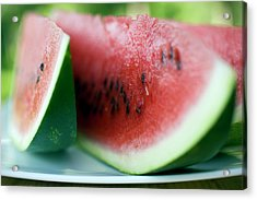 Three Slices Of Watermelon Acrylic Print