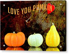 Three Small Pumpkins Acrylic Print by Tommytechno Sweden