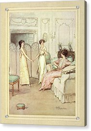 Three Women Acrylic Print by British Library