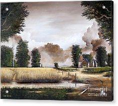 Through The Cornfield Acrylic Print