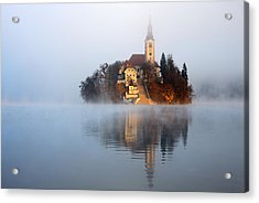 Through The Mist Acrylic Print by Ian Middleton