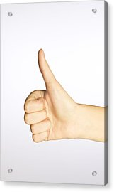 Thumbs Up Acrylic Print by Alan Marsh