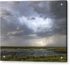Acrylic Print featuring the photograph Thunderstorm Over Cheyenne Bottoms by Rob Graham