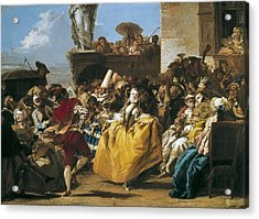 Tiepolo, Giovanni Domenico 1727-1804 Acrylic Print by Everett