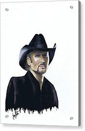 Tim Mcgraw Acrylic Print