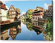 Timbered Buildings, La Petite France Acrylic Print by Miva Stock