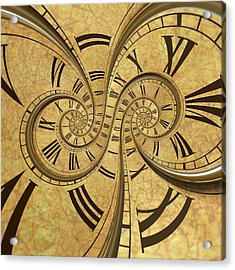 Time Spiral Acrylic Print by David Parker