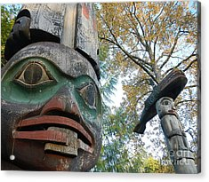 Acrylic Print featuring the photograph Tlingit Totem by Laura  Wong-Rose