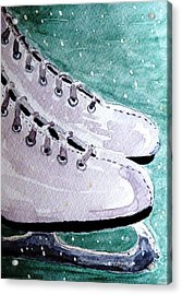 To Skate Acrylic Print by Angela Davies