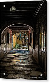 To The Courtyard Acrylic Print by Christopher Holmes
