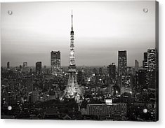Tokyo Tower At Night Acrylic Print by For Ninety One Days