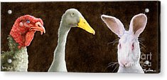 Tom Duck And Harry... Acrylic Print by Will Bullas