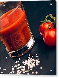 Tomato Juice Acrylic Print by Nailia Schwarz