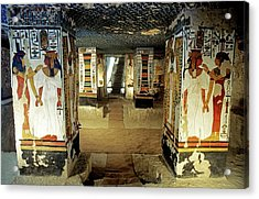 Tomb Of Queen Nefertari Acrylic Print by Patrick Landmann/science Photo Library