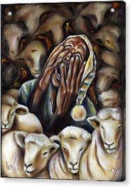 Too Many Sheep To Sleep Acrylic Print
