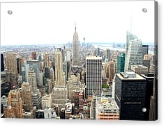 Top Of The Rock Acrylic Print by Jon Cotroneo
