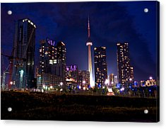 Toronto By Night Acrylic Print