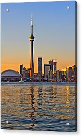 Acrylic Print featuring the photograph Toronto City View by Marek Poplawski