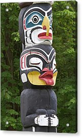 Totem Pole, Vancouver, British Acrylic Print by William Sutton